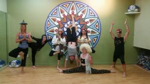 Our yoga class on Halloween :)